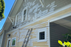 Before Finished Exterior Painting Alexandria, VA