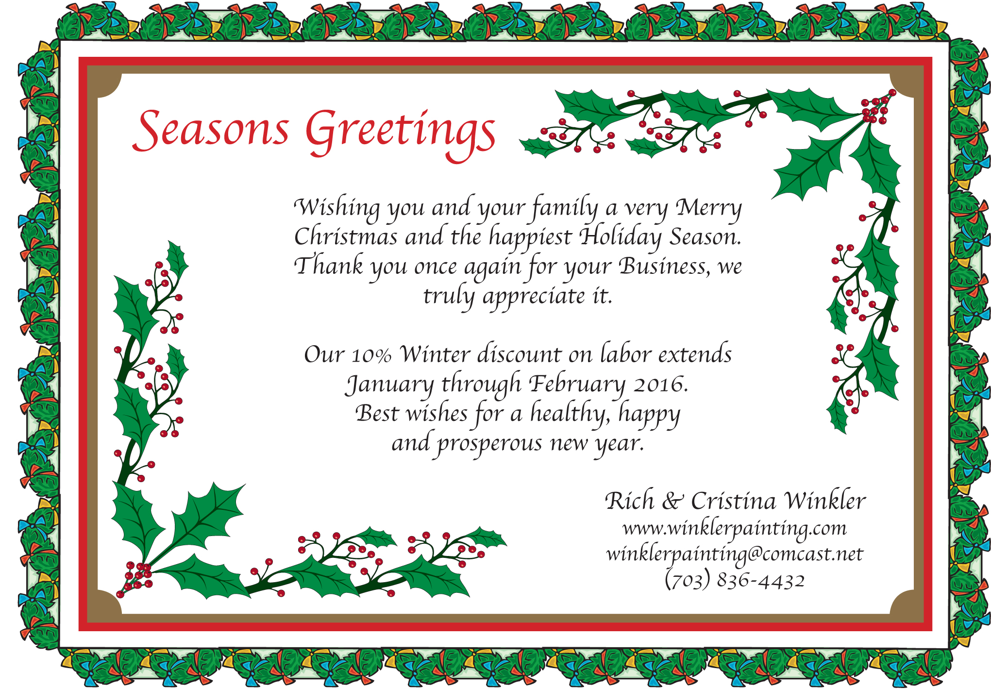Seasons Greetings Rich Winkler Painting