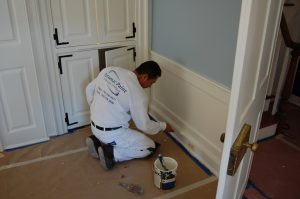 interior painting on trim